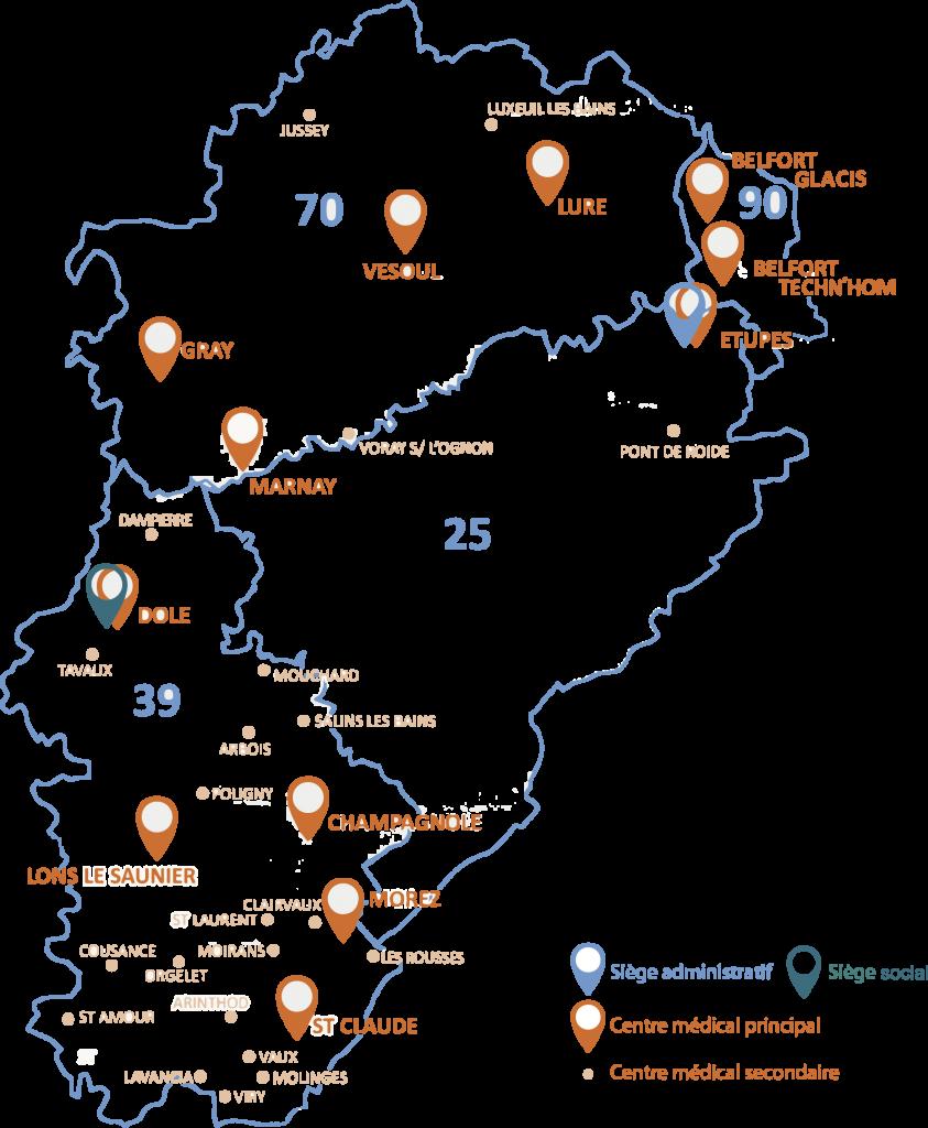Carte géographique OPSAT